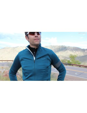 The Winter Jersey is made largely of Sportwool, with windproof front panels