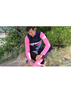 Rapha isn't shying away from pink by any means. The Long Sleeve Brevet Jersey comes with matching Gilet