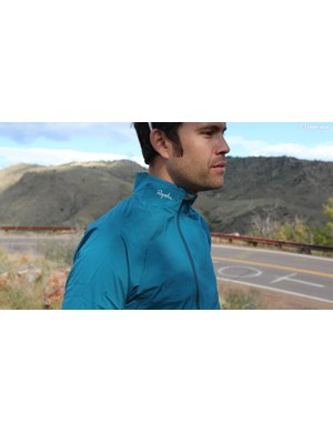 The Rapha Rain Jacket comes in orange and blue this year