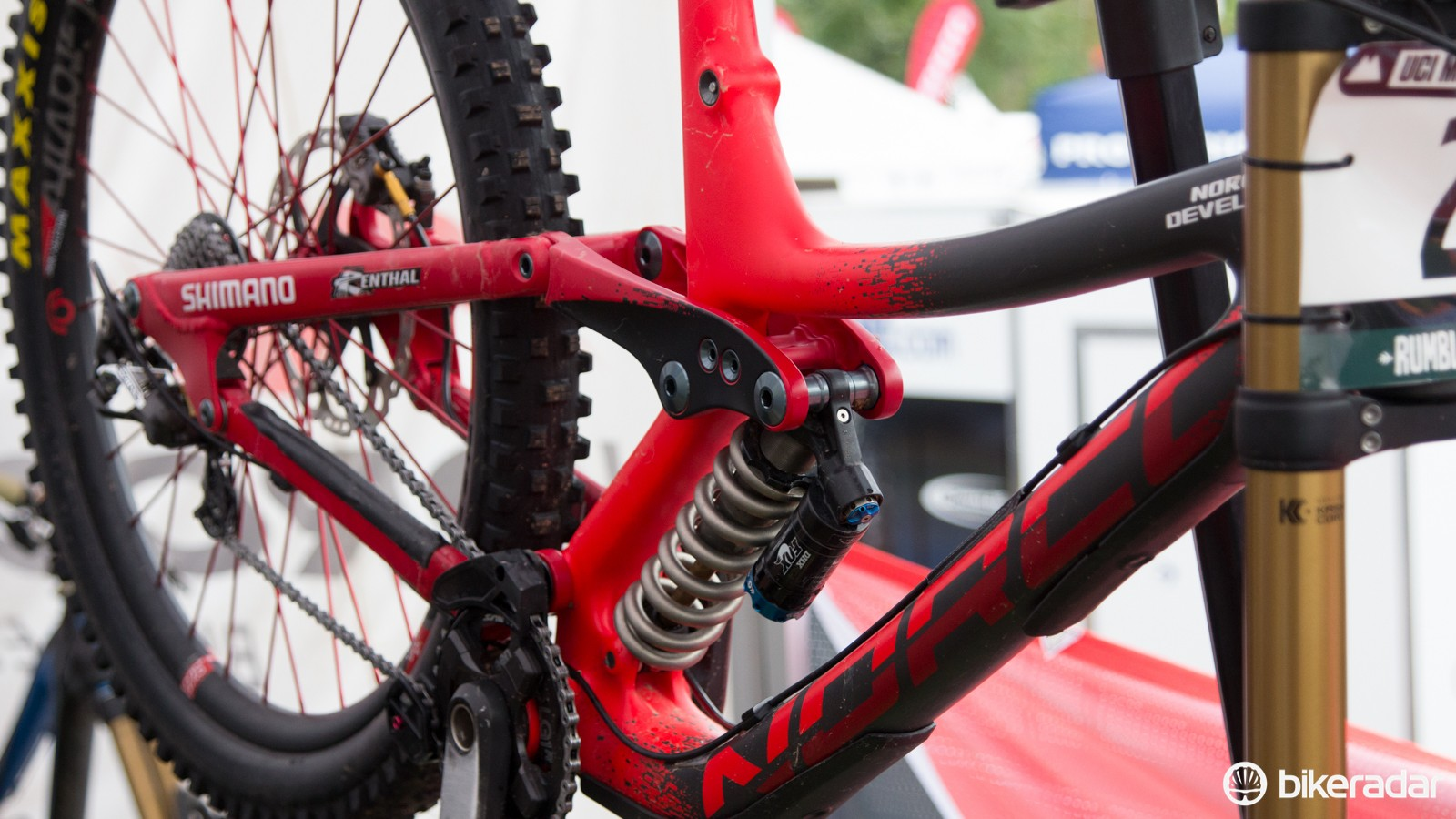 Norco is one example of a brand testing carbon prototypes through the downhill season