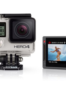 The new GoPro HERO4 Silver with its in-built LCD touch display