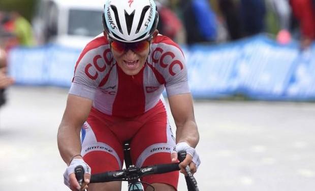 Kwiatkowski broke away to take the win, aged only 24