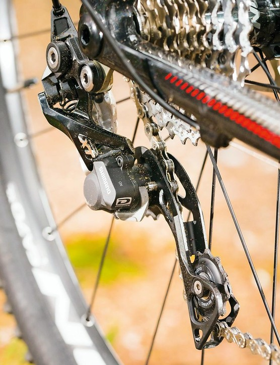 Shimano XT kit takes care of shifting duties