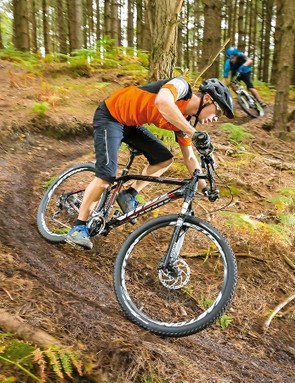 The Rapide's Reba fork is smooth and well controlled, and can be leaned on pretty hard