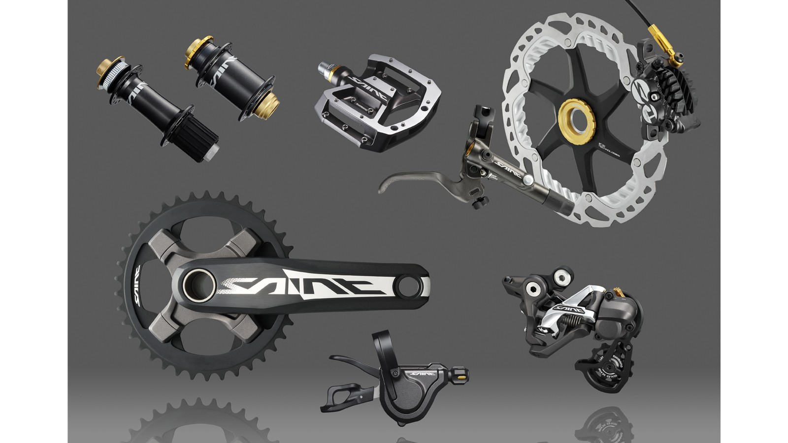 Saint is Shimano's top-level downhill focused groupset. Built with professional downhill-racing and extreme freeride in mind
