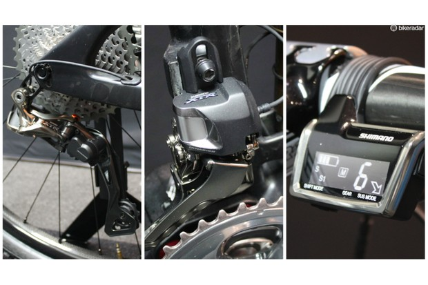 Shimano XTR Di2 was introduced in 2015. As the first electronic shifting groupset in mountain biking, it's no surprise that it's also the most expensive. By removing the mechanical cable, mud and dirt won't plague shift quality. Shift performance is excellent