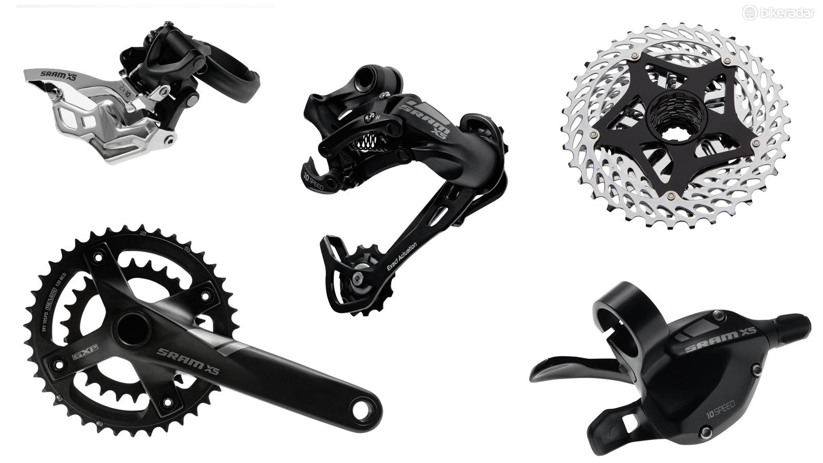 X5 is SRAM's first full groupset and it's a high-value option for those seeking 10-speed gearing. SRAM introduces its 2x10 gearing at this level