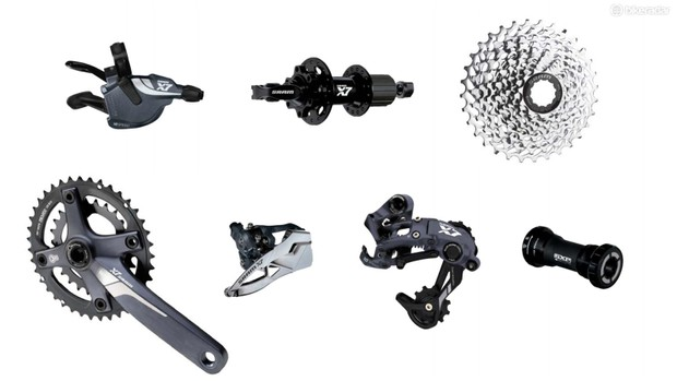 Often seen on lower-priced hardtails and dual suspension bikes, SRAM X7 is a good choice for regular off-road use on a budget