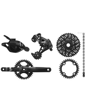 X1 is SRAM's budget-friendly 1x groupset. It shares much of the performance and features of XO1 and even XX1, but less carbon-fiber and more aluminum means a higher weight