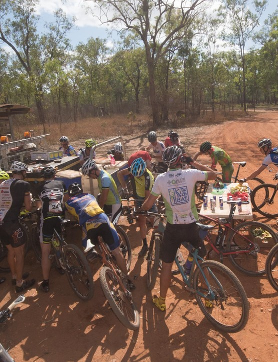 If you want people to ride with you and help you out when you're in need, never attack at a feed station