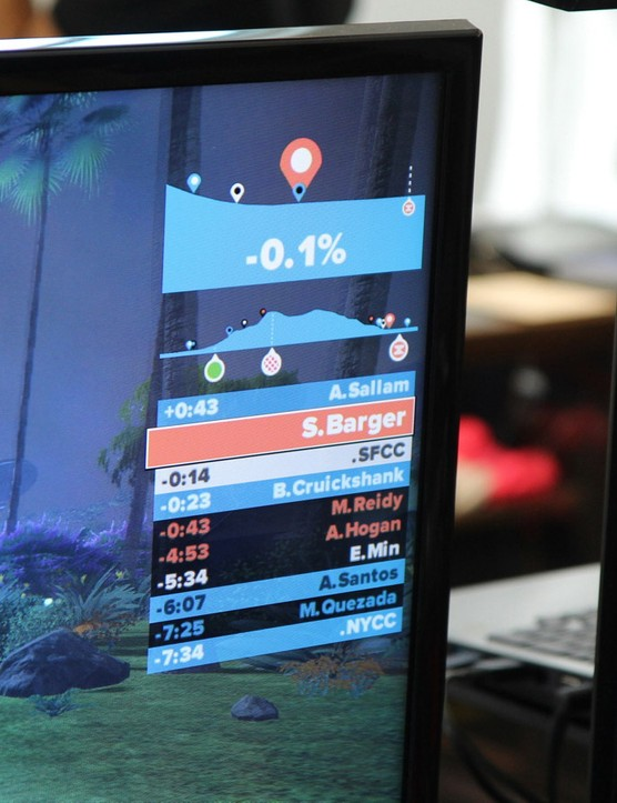 Real-time rolling leaderboards show the position of friends on course