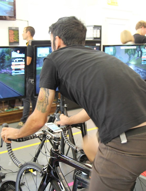 The competitive, interactive element adds a dynamic element to indoor riding