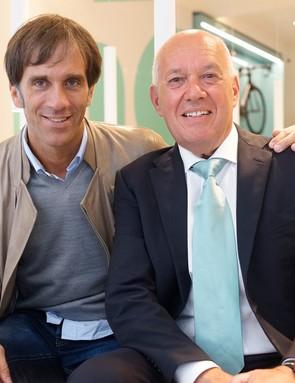 Chef Davide Oldani with Bianchi president Salvatore Grimaldi