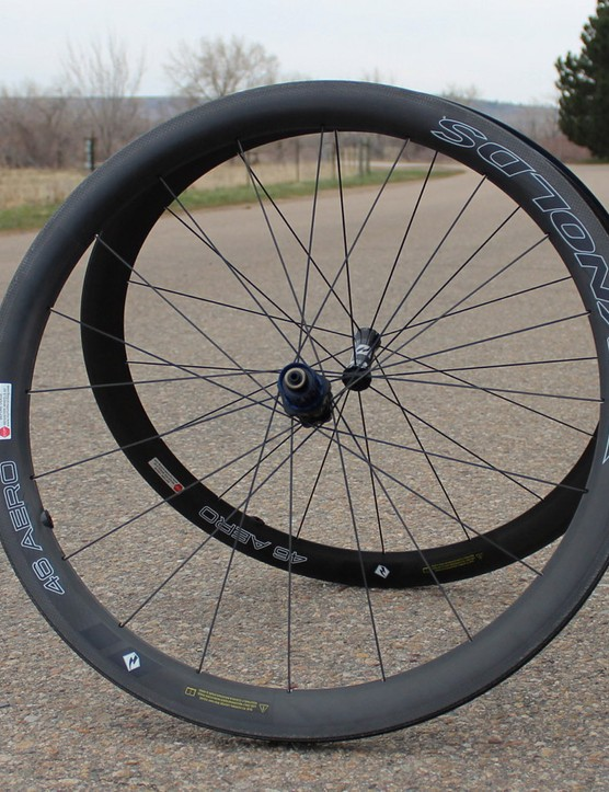 The Reynolds 46 Aero test set weighed 1,530g with rim tape but without skewers