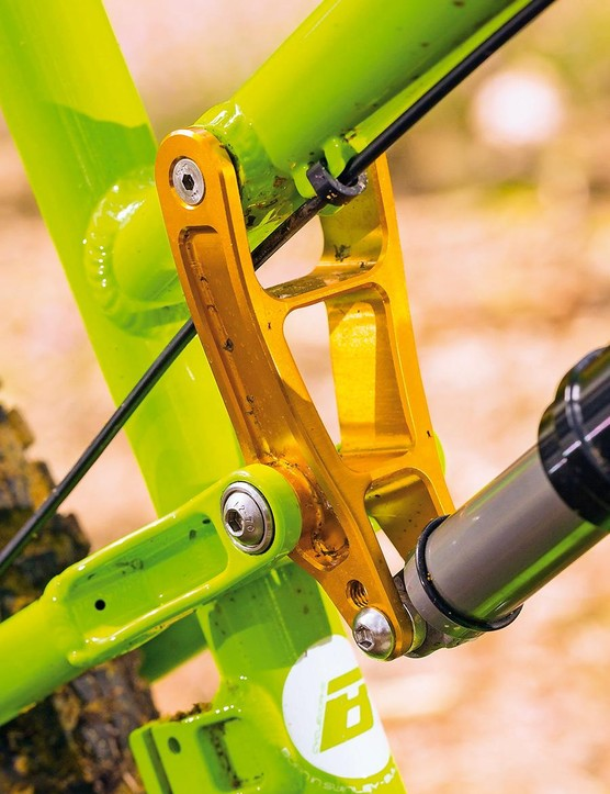 The progressive rear suspension can tip weight onto the fork if it's too soft or linear…