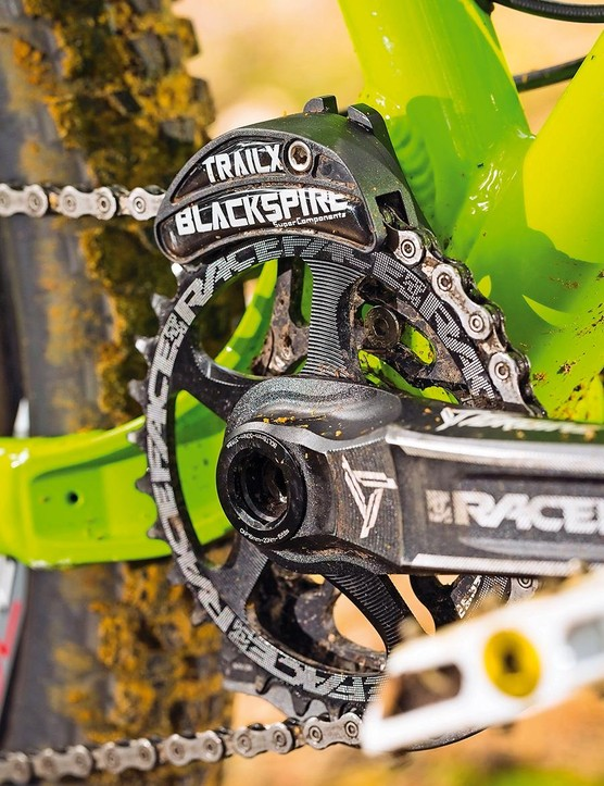 We chose Race Face Turbines, but huge customisation means you could just as easily spec SRAM's XX1