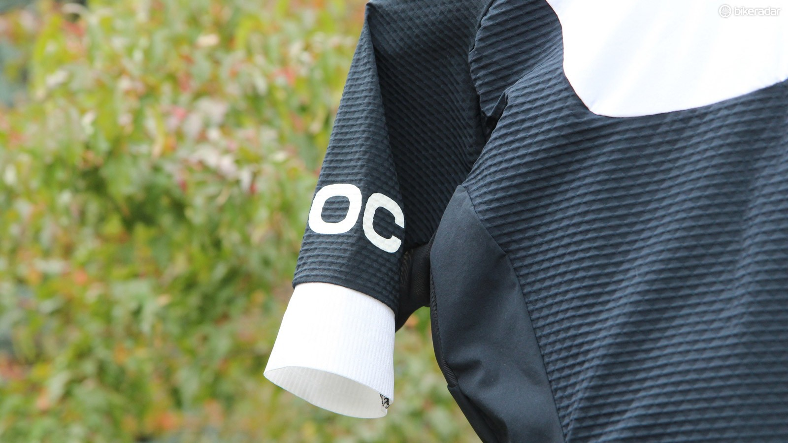POC took a number of fabrics into the Volvo wind tunnel, and settled on this textured option strictly for its aero benefit