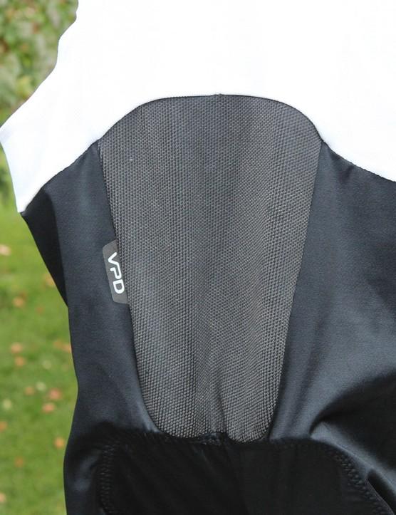 The rear panel of the Contour Aerofoil Bib Shorts