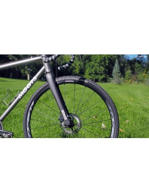 Our Moots Routt came disc-equipped, complete with an Enve Composites cyclocross fork