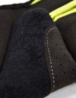 Heavily reinforced webbing at the thumb has proven durable and aids in gripping