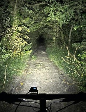 The Piko's 1200 lumen beam delivers good distance detail down the trail