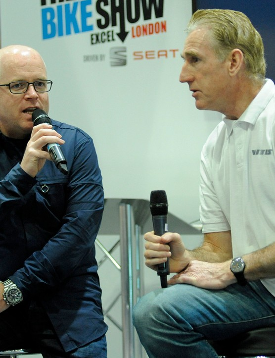 Sean Kelly was one of The London Bike Show's stars in 2014...