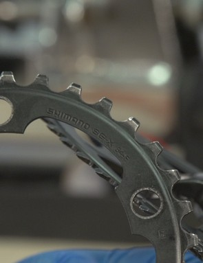 Chainring markings should face inwards
