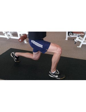 Lunges are a great move for cyclists - and you don't need a gym, either