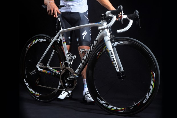 Kwiatkowski's prize from Specialized following his world championships win