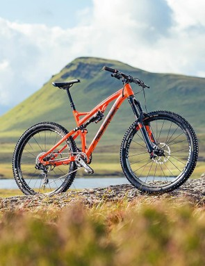 What's orange and black and fast all over? This bike. Obviously