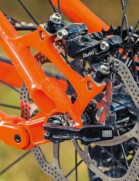 The four-bar back end pedals well, with plenty of support
