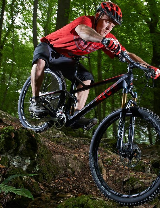 The fork is definitely a limiting factor when descents get gnarly