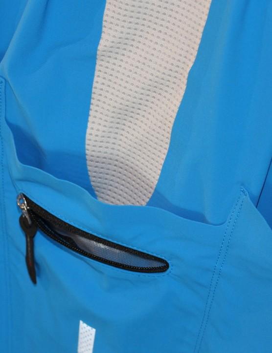 The slanted side pockets tops make access easier