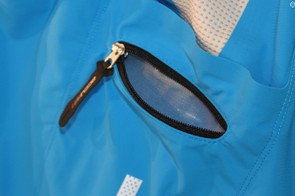 The zippered pocket is waterproof on the body side