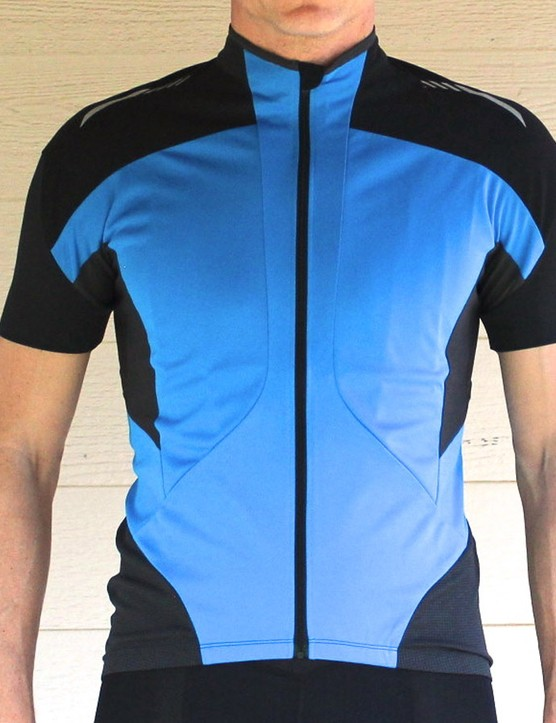 The Mirror Cool jersey's fabric is coating with a heat-reflective ceramic treatment