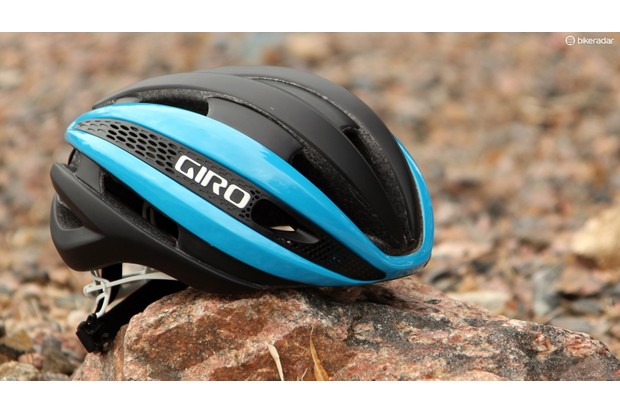 Giro says its Synthe is its most aerodynamically efficient road helmet — but it's also very well ventilated at both fast and slow speeds, light and comfortable