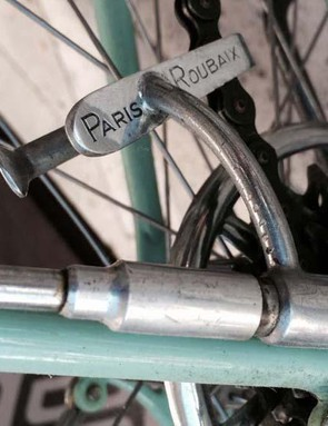 The 'Paris-Roubaix' derailleur is operated by a lever running up the seatstay