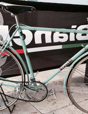 Classic 1940s Bianchi Corsa (complete with winter training guards)