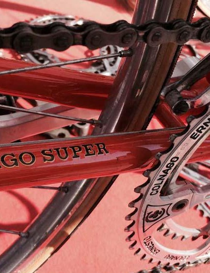 …it even had the drilled-out Merckx edition brakes and Colnago chainrings
