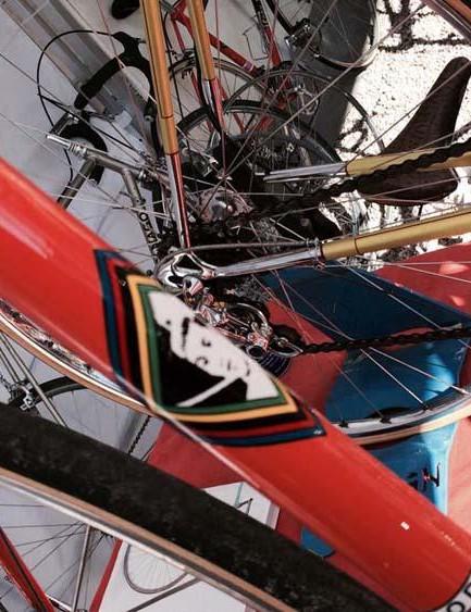 The seat tube on the Eddy Merckx replica Colnago Super