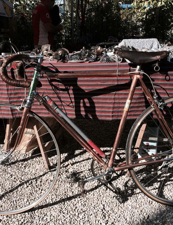 This Molinari of Torino bike has a beautiful copper finish, but we couldn't find out much about the brand from the stallholder. We did know we wanted it though