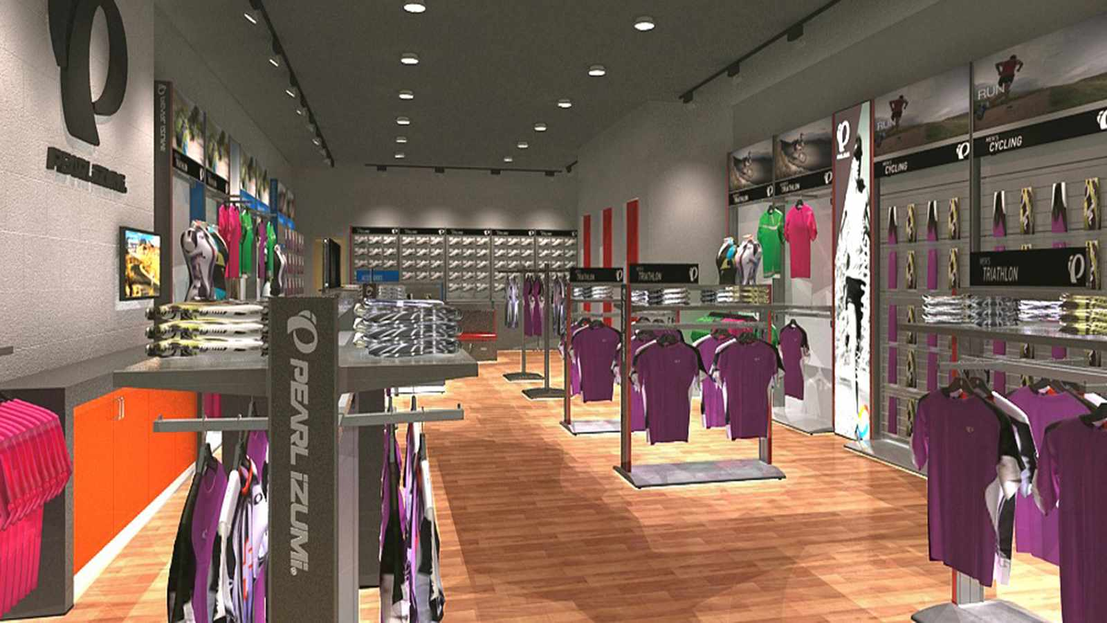 A digital render of Pearl Izumi's latest outlet store
