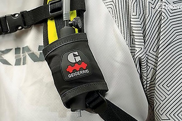 Geigerrig's air-pressure hydration system is a great idea that doesn't quite come off – at least not yet