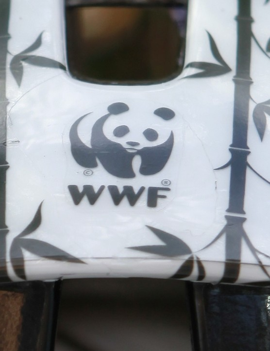 The famous WWF logo can be seen on the top of the helmet