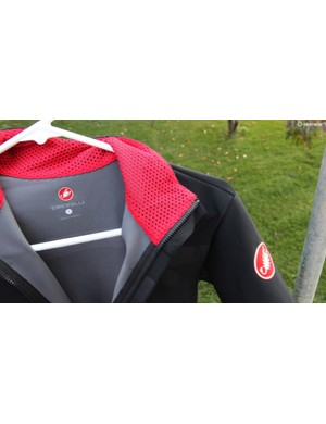The Gabba material isn't exactly fleecy to the touch, so Castelli adds a soft, wicking layer at the neck