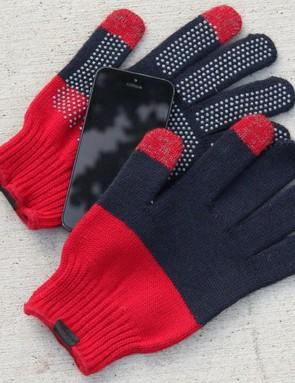 Giro's Merino Wool gloves work with touchscreens