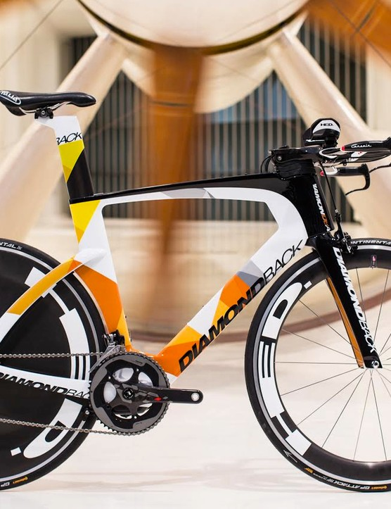 The new Diamondback Serios TT/tri bike will come in three builds and a frameset