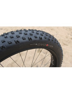 Bontrager has a tubeless-ready tire to accompany the Jackalope wheelset. The Hodag measures in a 26x3.8in and weighs 1224g per tire