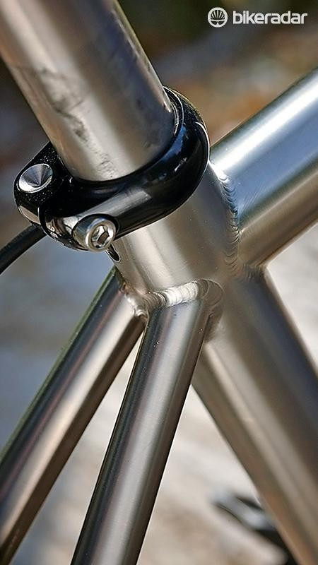 Shiny! Even the Sabbath's seatpost is made of titanium
