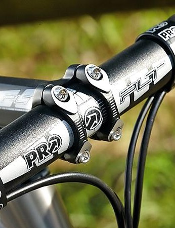 The bar and stem are from Pro, Shimano's component arm